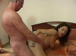 Pervert Russian dad and his naughty daughter online