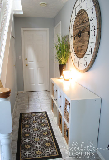 Organized Entryway Using Baskets