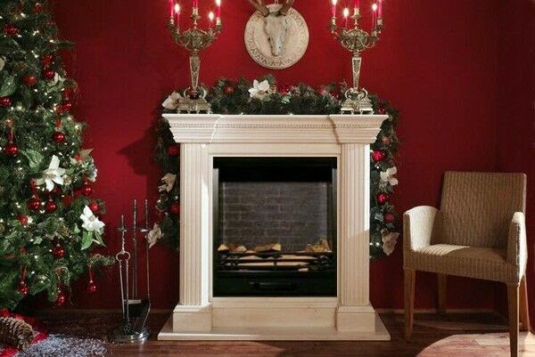 decorar chimenea navideña