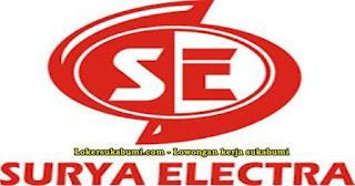 Lowongan Kerja PT SURYA ELECTRA Sukabumi
