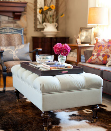 Willow bee inspired well dressed home no 37 - What is an ottoman used for ...