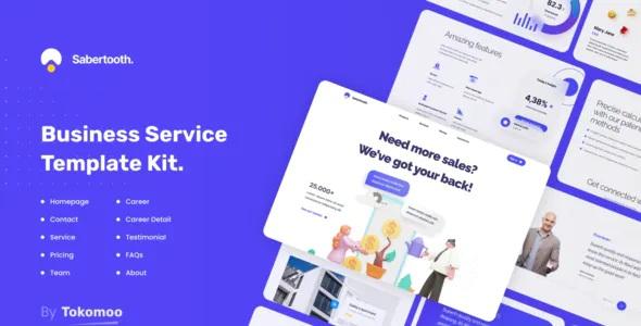 Best Business Service Elementor Template Kit