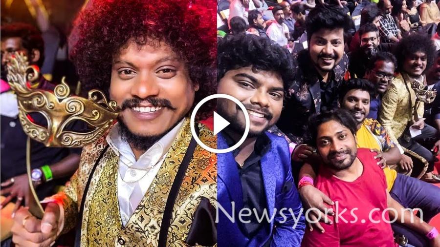 விஜய் TELEVISION AWARDS-ல் சிறந்த காமெடியன் விருது பெற்ற புகழ் !!