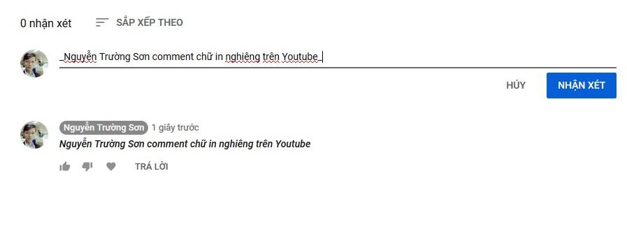 Cách Comment Chữ In Đậm Chữ In Nghiên Chữ Gạch Ngang Trên Youtube 2019