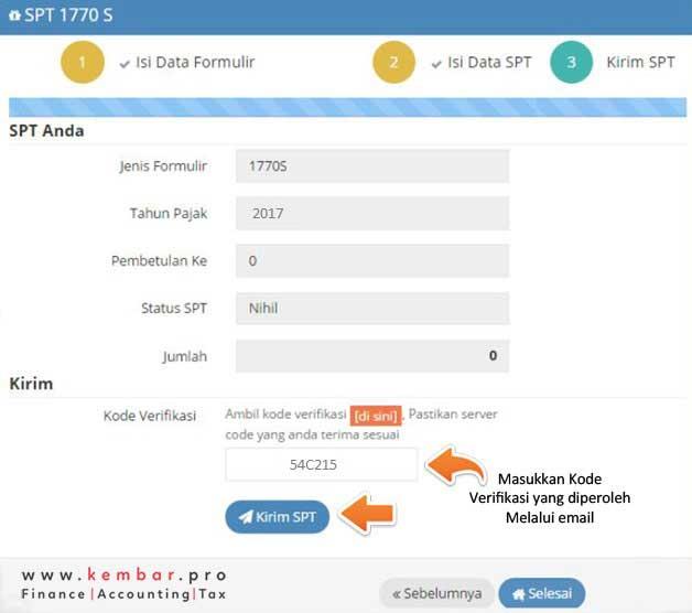 Pengiriaman dan upload Dokumen ke Sistem DJP Online
