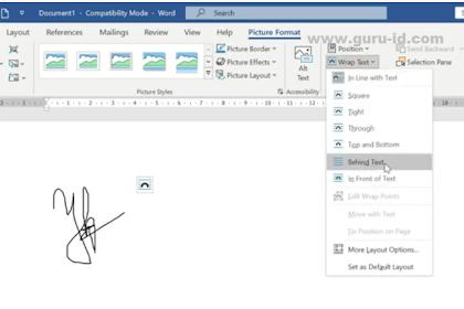 Cara Mudah memasukkan tanda tangan Ke dalam Dokumen Word