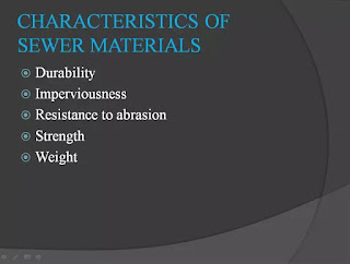 characteristic of sewer material