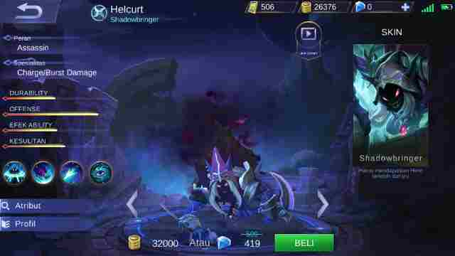 Guide Helcurt Mobile Legend, Build, Skill, Ability, Set Emblem Yang Cocok, Hingga Tips Menggunakannya