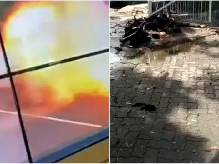 Jasad Pelaku Bom Bunuh Diri Depan Gereja Katedral Makassar Ternyata Masih Menyatu dengan Motor