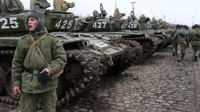 Russia's military forces staged massive snap military drills in districts close to the border with Ukraine and the Baltic states