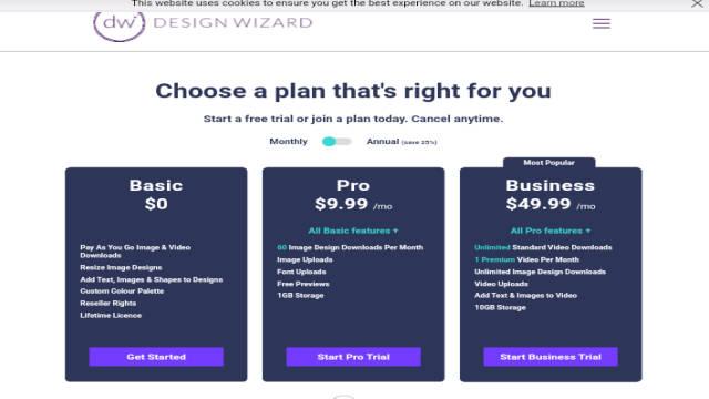 موقع Design Wizard لأنشاء اعلانات متحركة