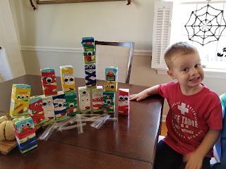 Halloween Kid Craft - DIY Monster Juice Boxes