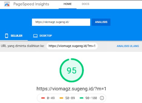 Kecepatan Loading Template VioMagz