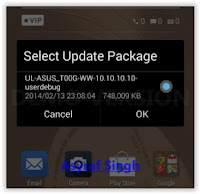OTA update procedure Asus ZenFone Selfie (ZD551KL)