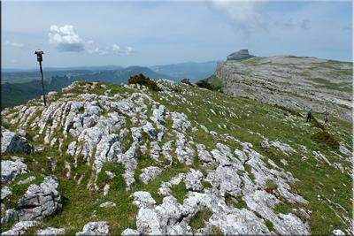 Beriain visto desde la cima de Lezizagoa