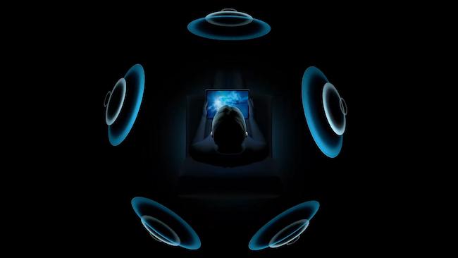 الصوت المكاني في Apple AirPods