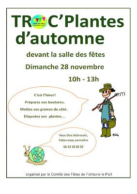 TROC'Plantes d'automne à Fontaine le Port