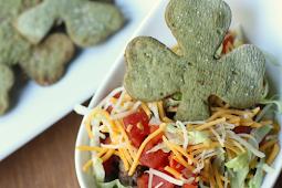 St Patrick's Day Shamrock Tortilla Chips