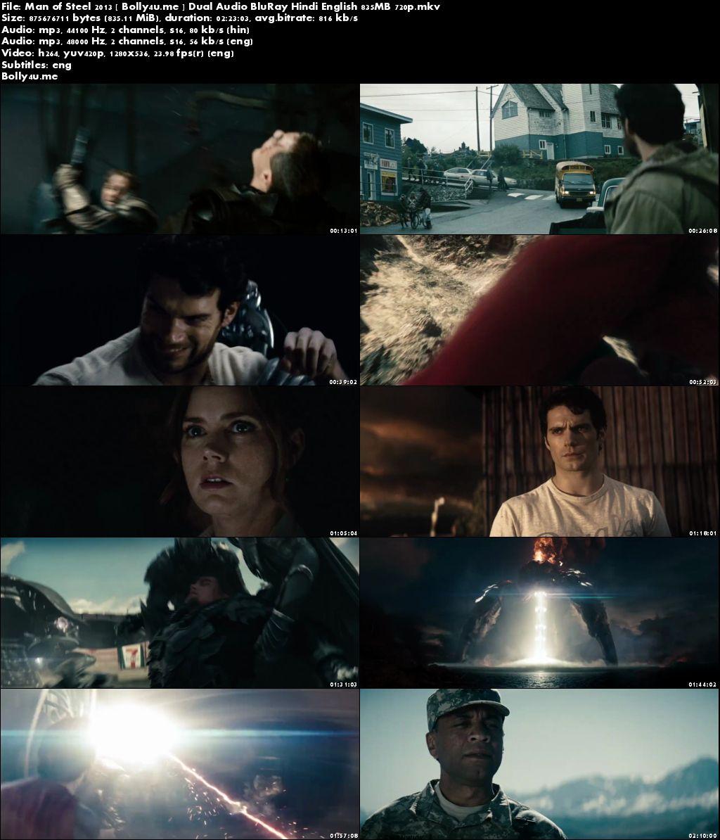 Man of Steel 2013 BluRay 450MB Hindi Dual Audio 480p Download