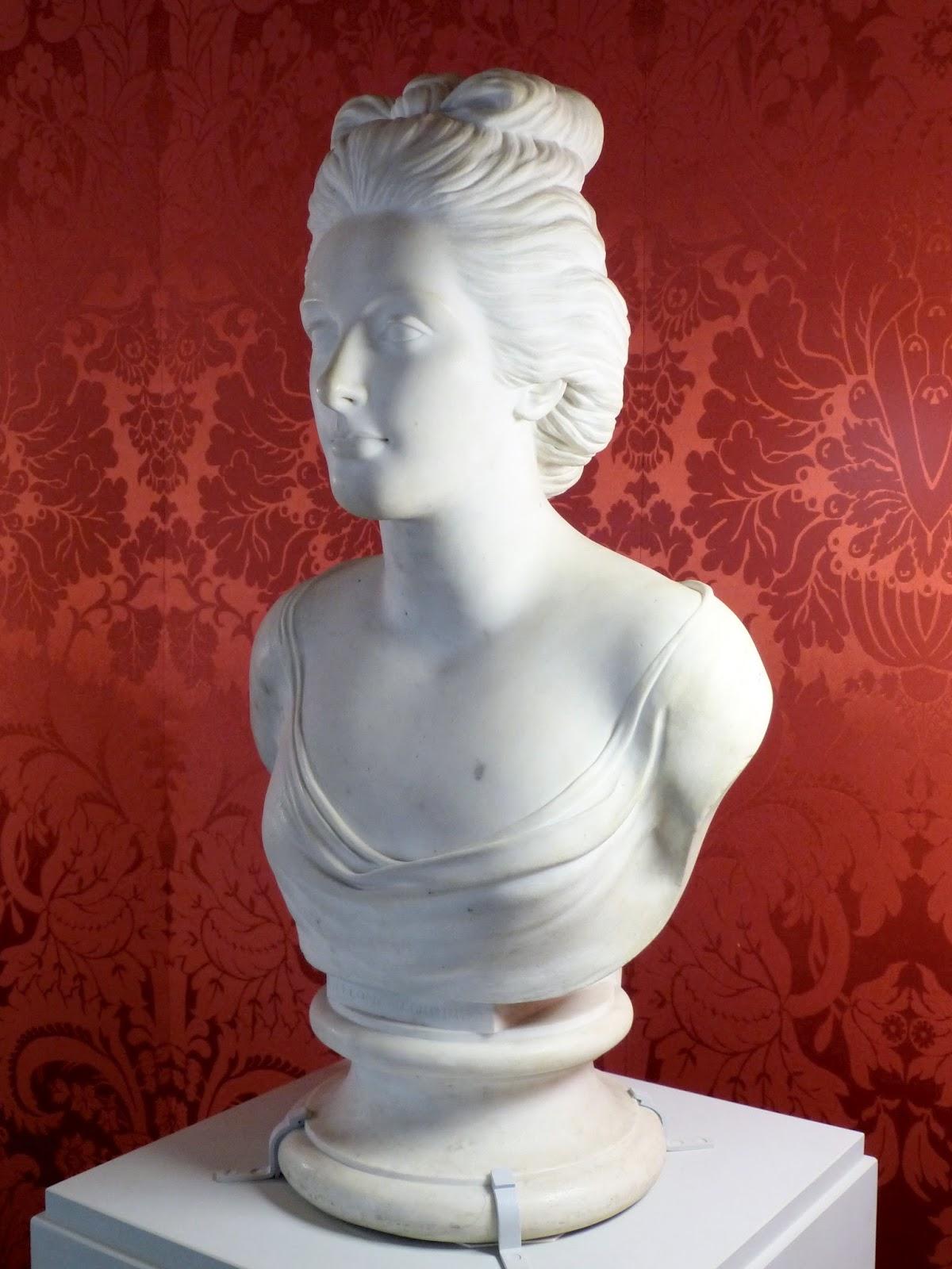 Portrait bust of Elizabeth Lamb,  Viscountess Melbourne by Anne Damer (1784)