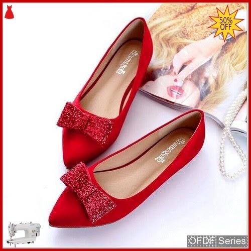 OFDF293 Sepatu Flat Cantik Velvet Suede Glitter BMGShop