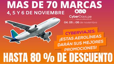 Cyber Days// Este 4, 5 y 6 de NOVIEMBRE - 70 marcas hasta 80% de descuento