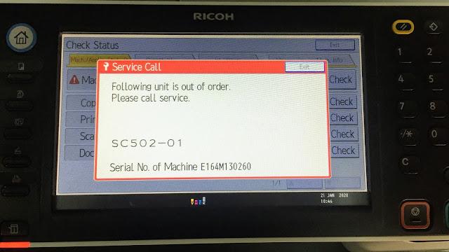 Ricoh MP C3003, MP C3004, MP C3503, MP C3504, MP C6055, MP C4503, MP C5503, MP C6003, and MP C6004 copiers