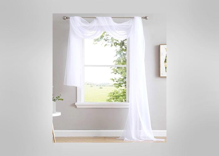 Modern Window Scarf - house figure