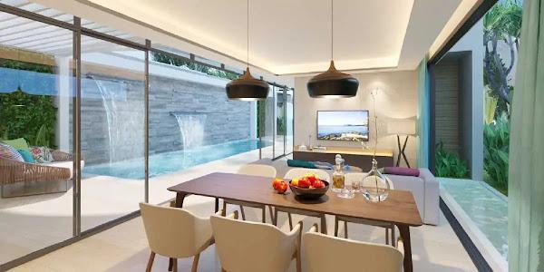 phòng ăn trong căn biệt thự biển Hồ Tràm tại dự án Ixora Hồ Tràm