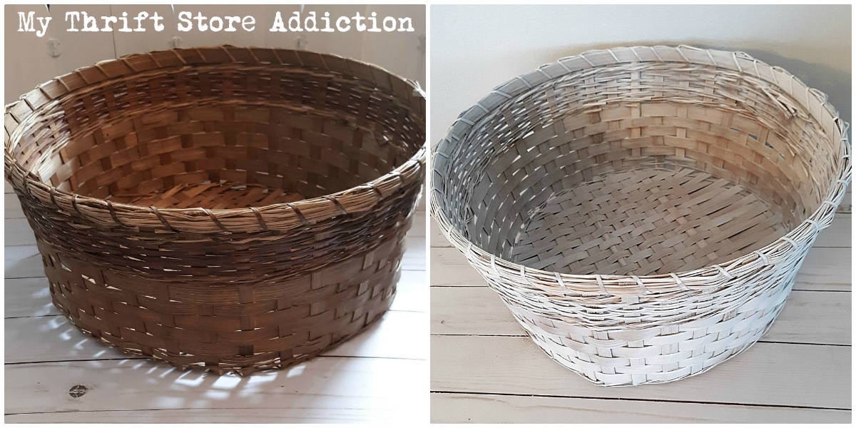 thrift store basket upcycle