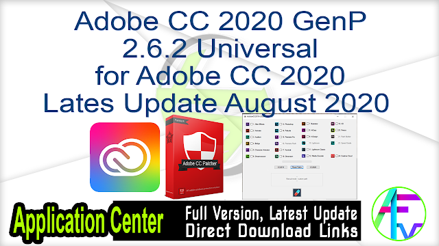 Adobe CC 2020 GenP 2.6.2 Universal for Adobe CC 2020 Latest Update August 2020