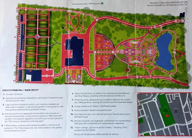 Plano del Jardín del Palacio de Santa Ana en Ponta Delgada