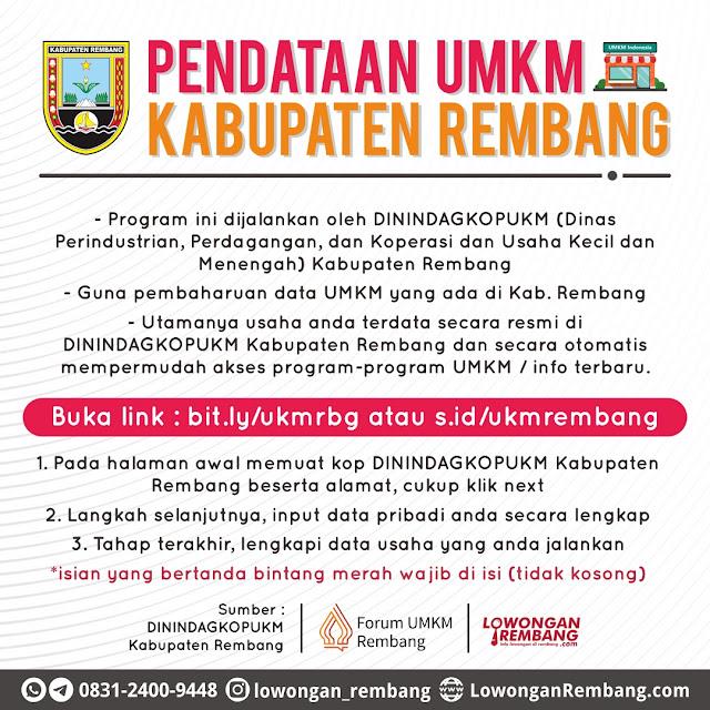 Pendataan Serta Update Data UMKM Oleh DININDAGKOPUKM Kabupaten Rembang