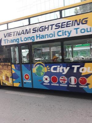ハノイの2階建て観光バス