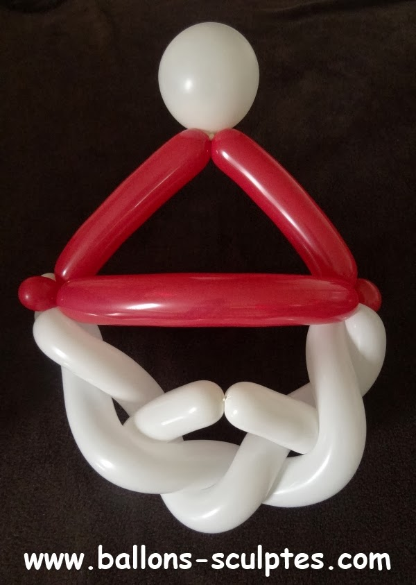 ballons sculpt s chapeau et barbe du p re no l en ballons. Black Bedroom Furniture Sets. Home Design Ideas