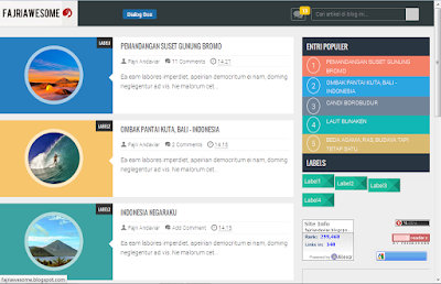Download Template Flat UI: Fajri Awesome Responsive Blogger