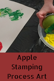 Apple Stamping Process Art