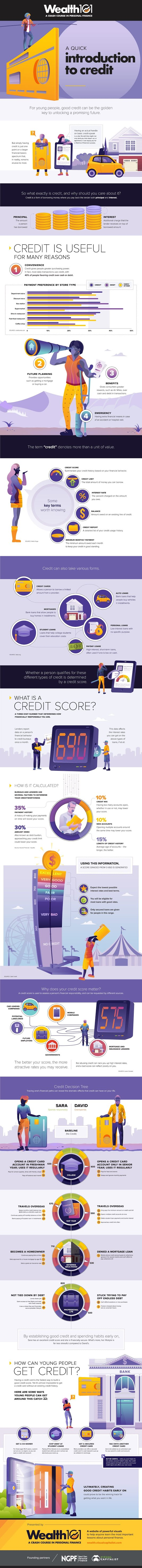 What are the young people who need credit? #infographic