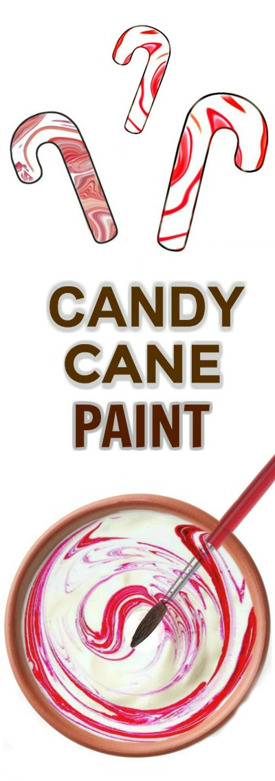 CANDY CANE PAINT RECIPE & CRAFT FOR KIDS- easy to make paint that smells just like Christmas!  #christmascraftsforkids #candycanepaint