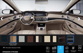 Nội thất Mercedes Maybach S650 2018 màu Vàng Silk/Deep-Sea Blue (962)