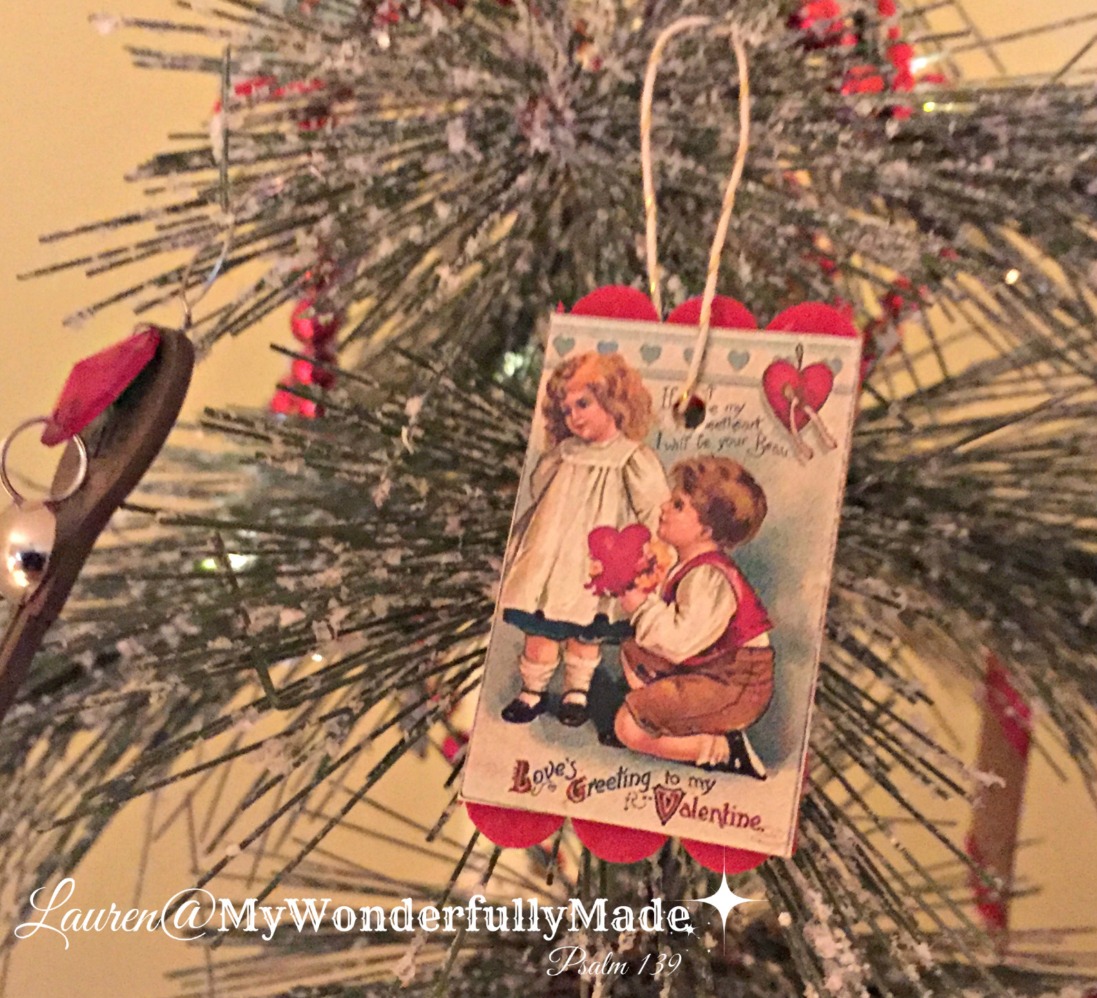Wonderfully Made Valentine Tree Diy Ornaments