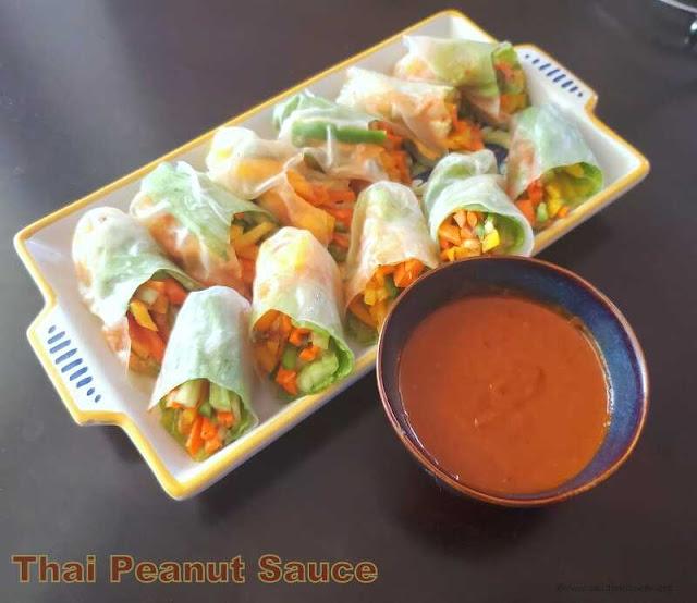 images of Thai Peanut Sauce Recipe / Peanut Dipping Sauce Recipe / Easy Thai Peanut Sauce / Thai Peanut Sauce for  Summer Rolls