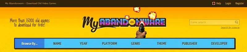 رابعاً : موقع My Abandonware لتحميل ألعاب الكمبيوتر القديمة