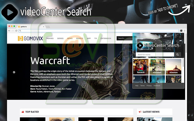 VideoCenter Search (Extensión)