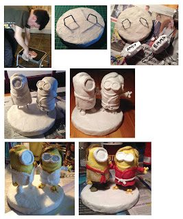 Minions Minion Despicable cake topper clay wedding