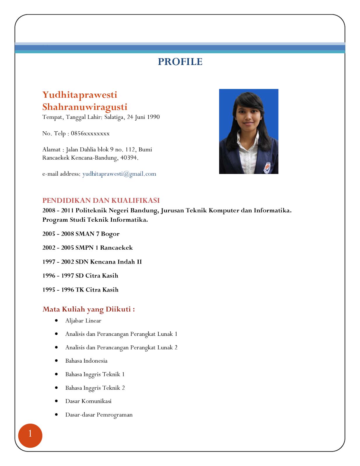 Resume untuk kerja
