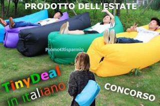 Logo Vinci gratis un sofà gonfiabile