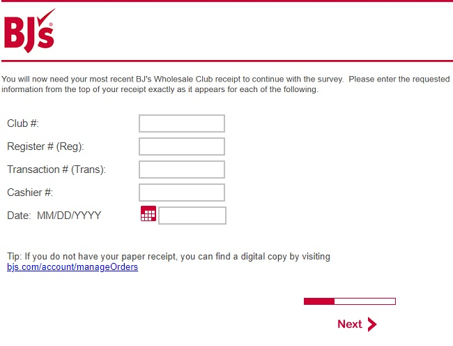 bj's online survey
