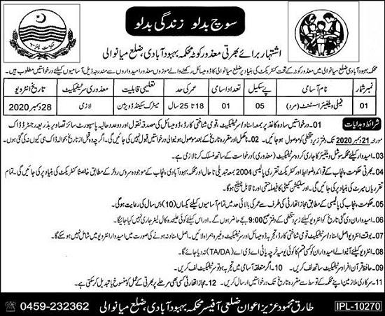 population-welfare-department-mianwali-jobs-2020-advertisement