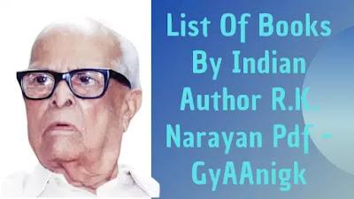 R.K. Narayan Books List In Hindi Pdf